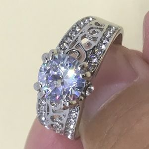 Jewelry - S2CT CZ White Gold Plated Ring
